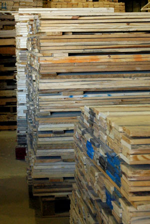 wood for recycled pallets